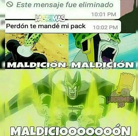 Cell madiciendo - meme