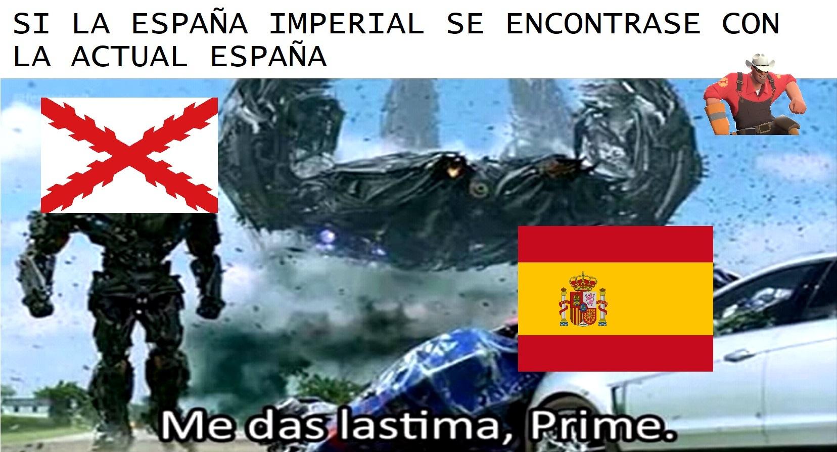 Me das lastima España - meme