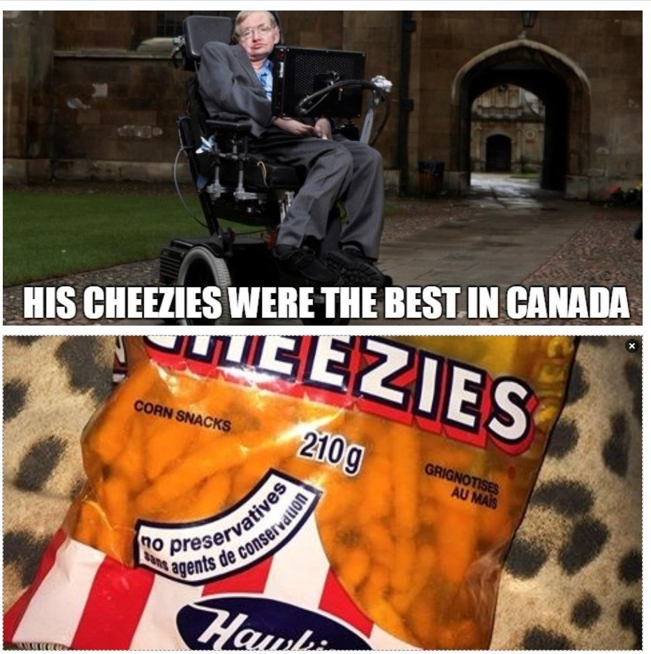 The Guy Who Made Cheezies Died! - meme