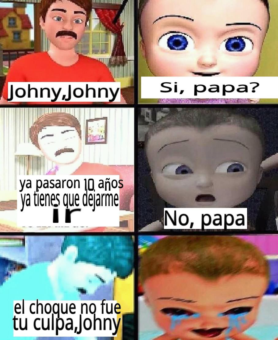 La serie Johny se pone cada vez más oscuro - meme
