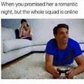 Quand ta promis une nuit romantique mais que toute ta squad est en ligne (et pas en colonnes)