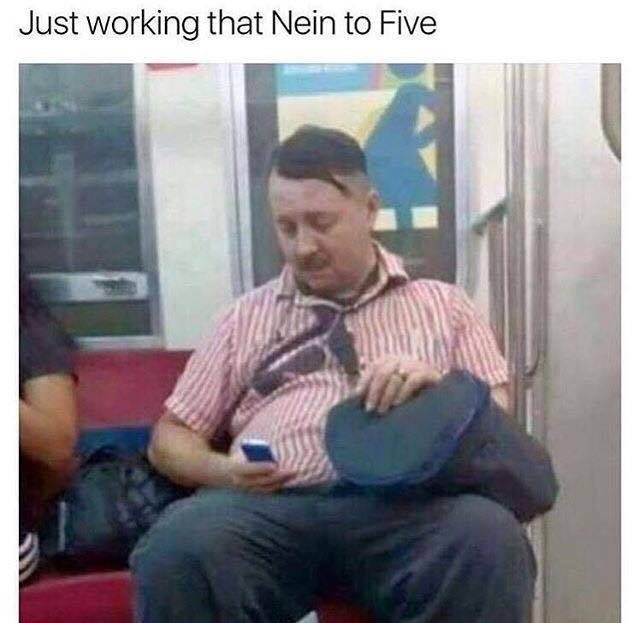 I found hitlers cousin - meme