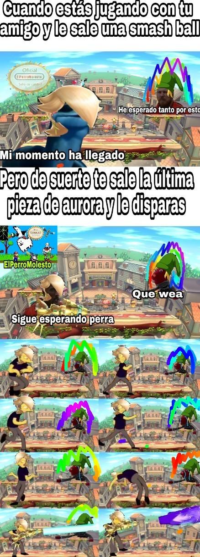 Juego: Super Smash Bros, basado en hechos reales xd - meme