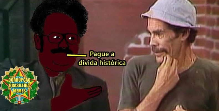 Senhor Barriga virou Senhor Negão - meme