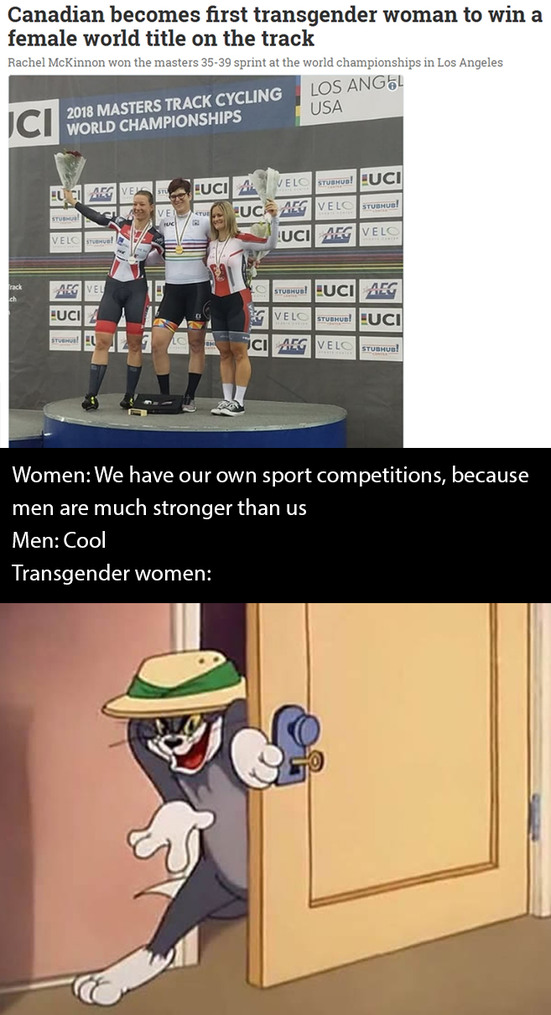 RIP female sport - meme