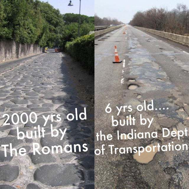 Romans did the best roads - meme