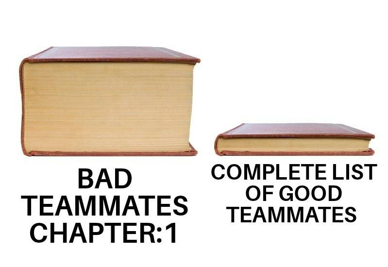 Random teammates - meme
