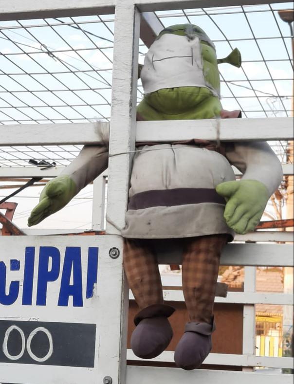 Shrek se cuida con mascarilla, Sean como shrek - meme