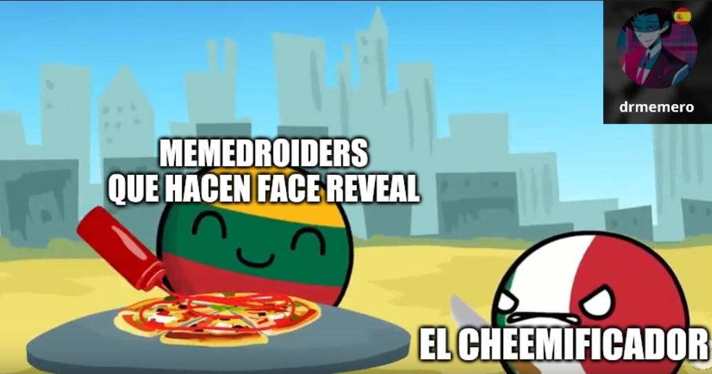Moraleja: No hagan faces reveals - meme