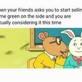 Just a little green