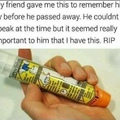 My old friend..