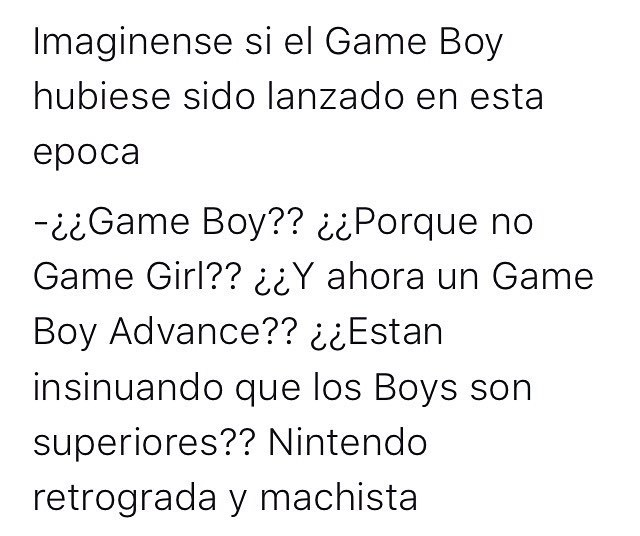 Game Boy en la era feminazis - meme