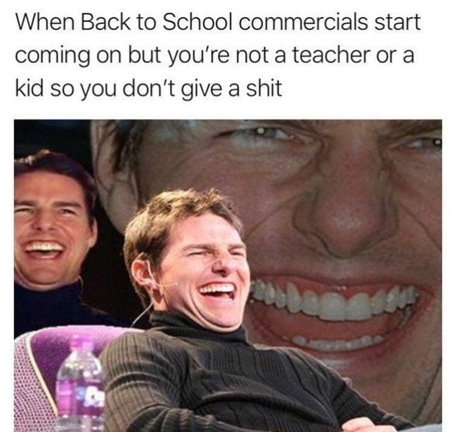 Back to school commercials - meme
