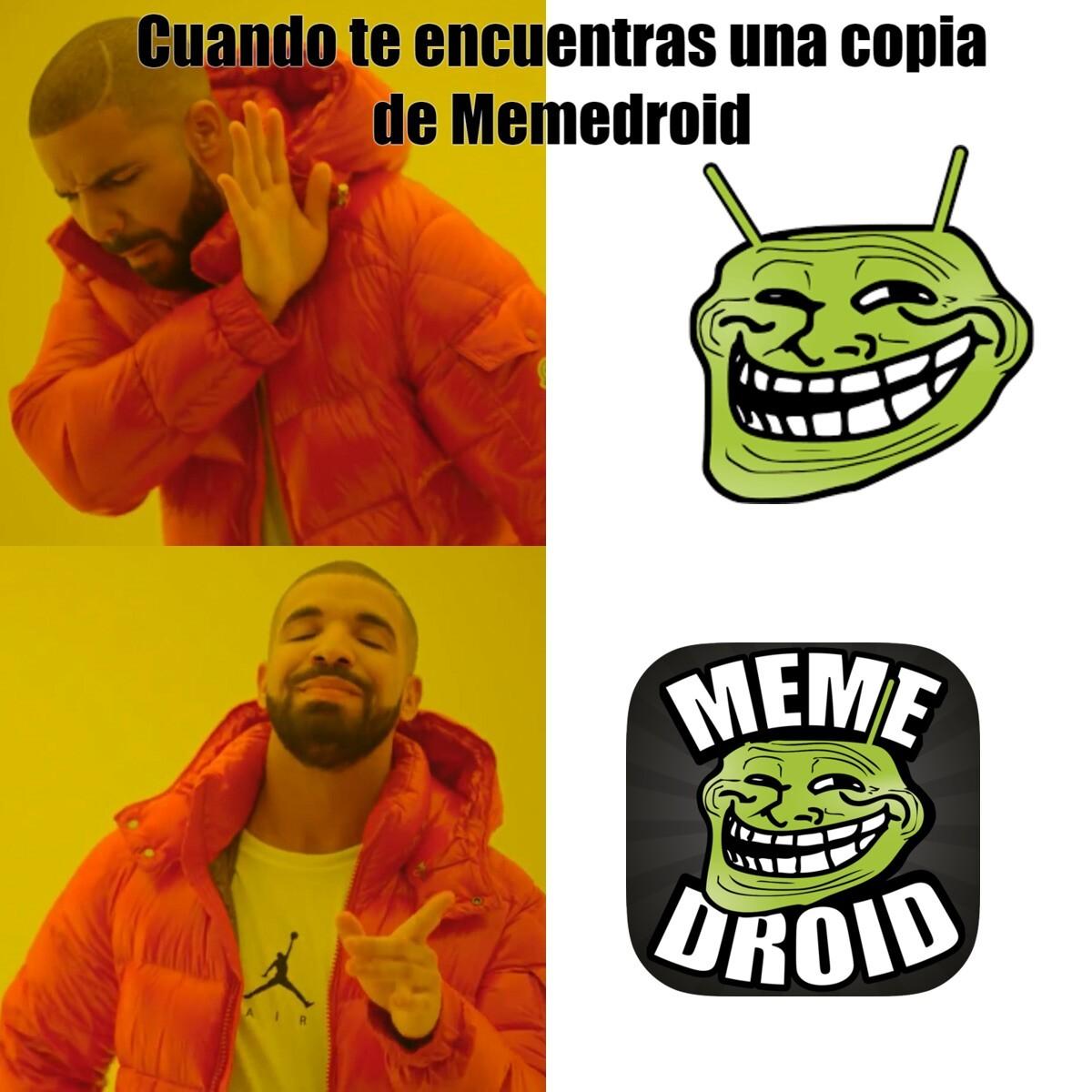 Real VS Copia - meme