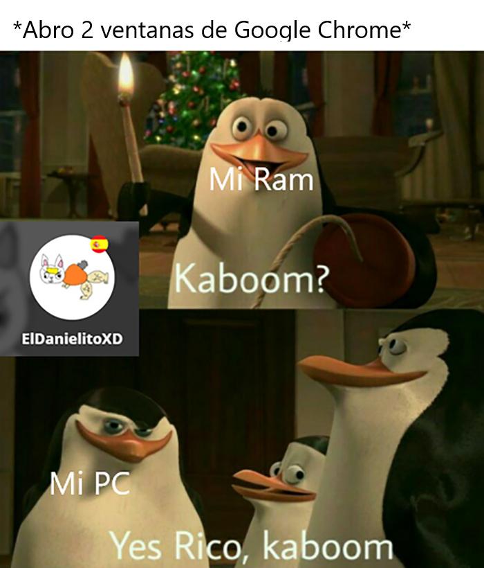 El título hizo Kaboom - meme