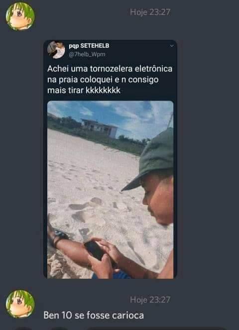 Ben 10 carioca, se transforma em marginal - meme