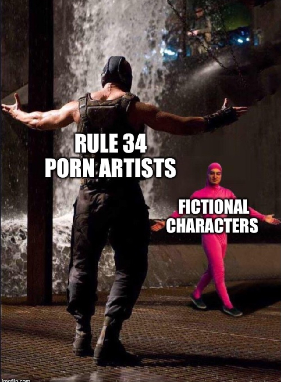 rule 34 if it exists there's porn of it - meme