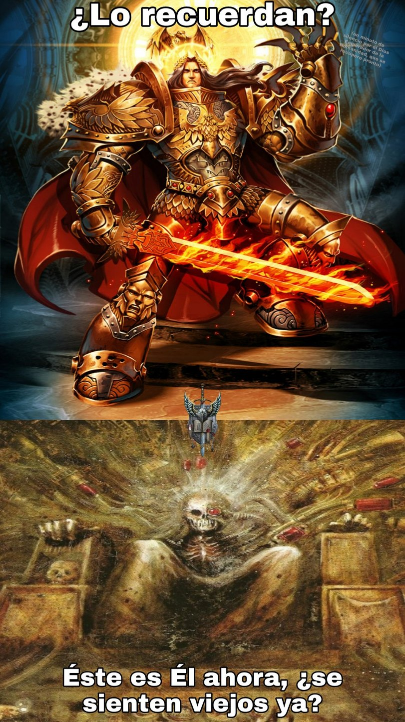 La más grande F por el Dios Emperador - meme