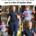 When you are Iron-Man but your son prefers Spider-Man