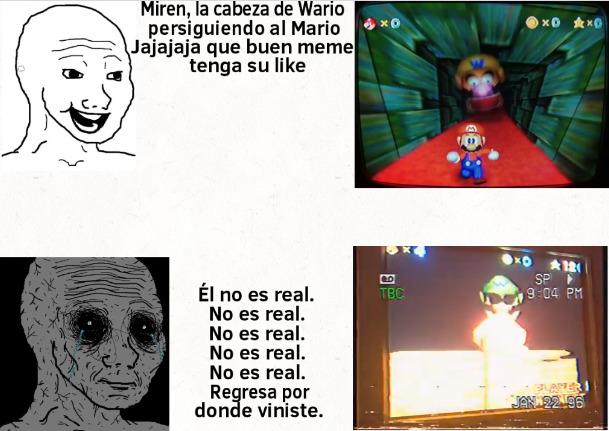 Con motivo de el primer (casi) año del creepypasta de Mario 64. Si lo aceptan les paso el contexto en los comentarios. - meme
