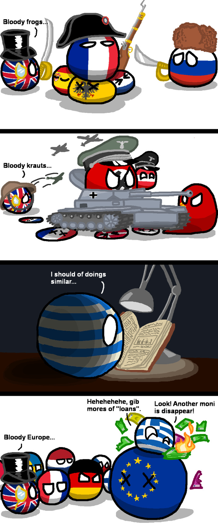Conquest and the debt - meme