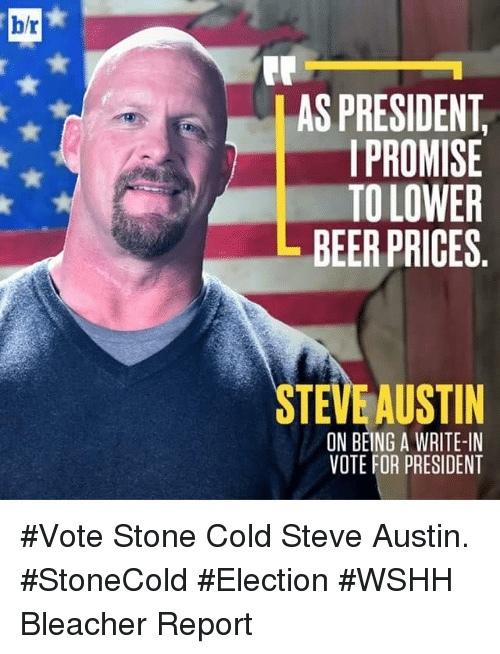 Steve Austin for President 2020 - meme