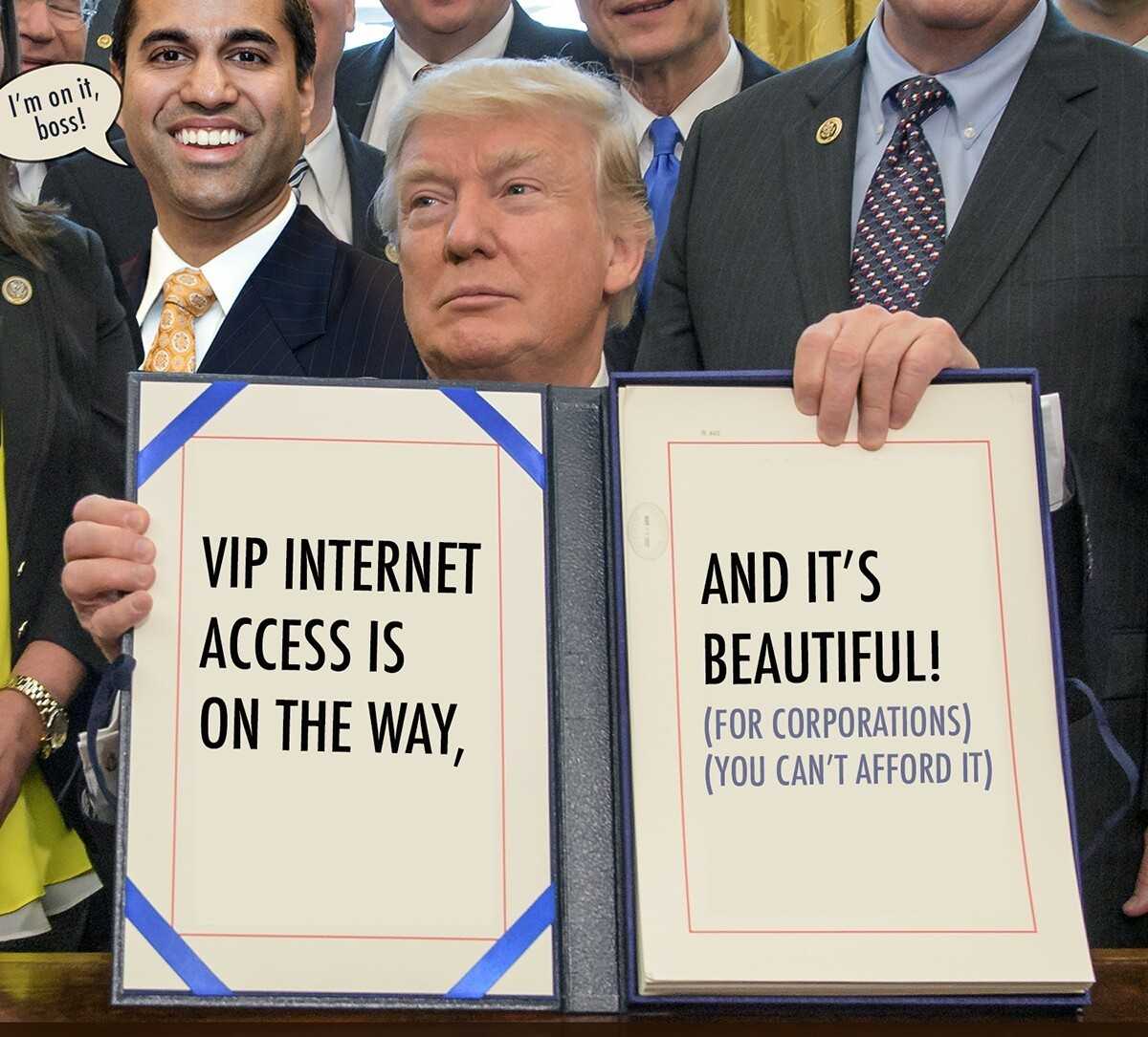 Ajit pai, hypocrite with insignificant manhood - meme