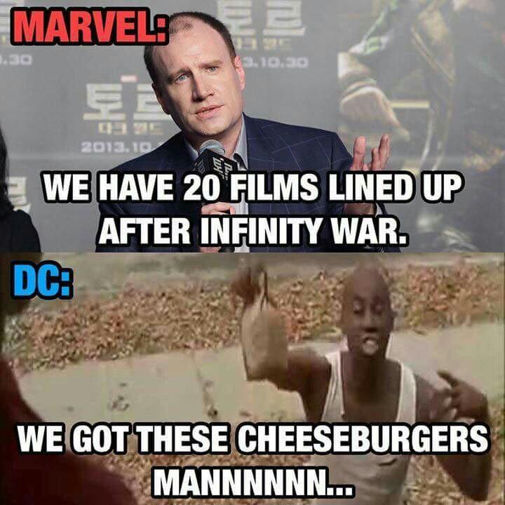 Marvel > DC - meme