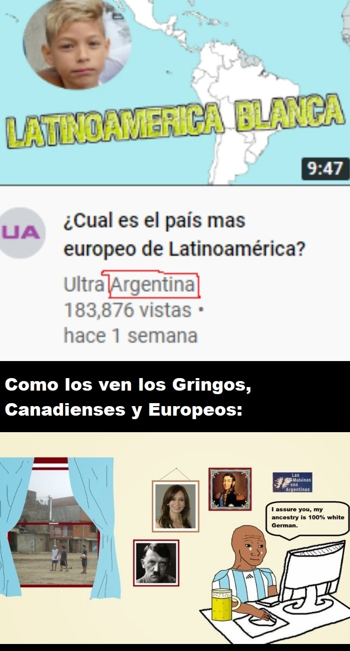 Argentina is White - meme