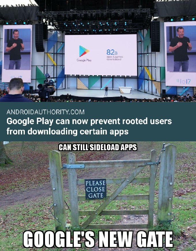 Google just made a gate with no fence. - meme