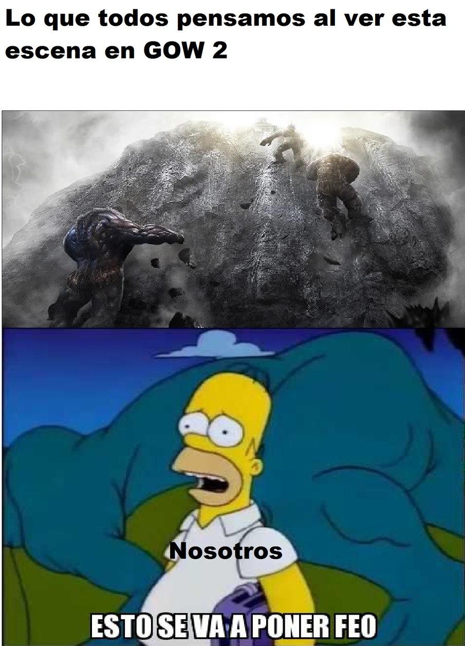 La caída del olimpo - meme