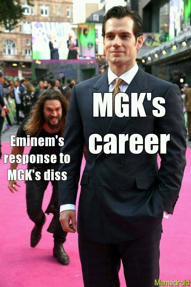 """Killshot"" is the name of the diss. Rip MGK - meme"