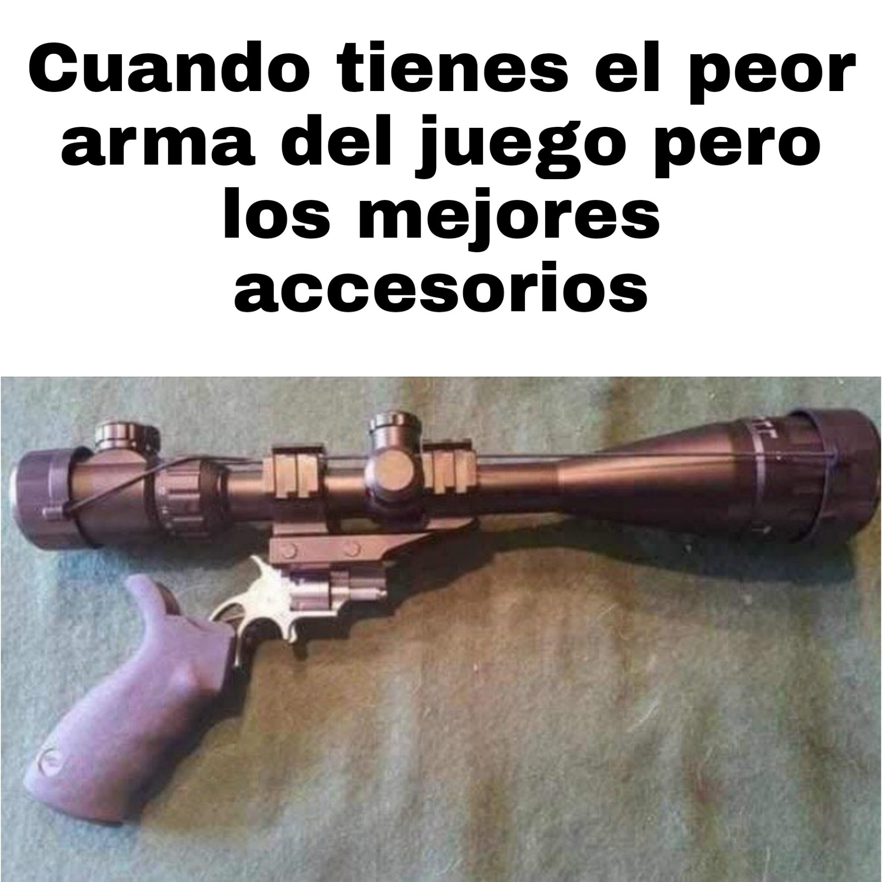 I am little weapons guy, and this is my weapon - meme