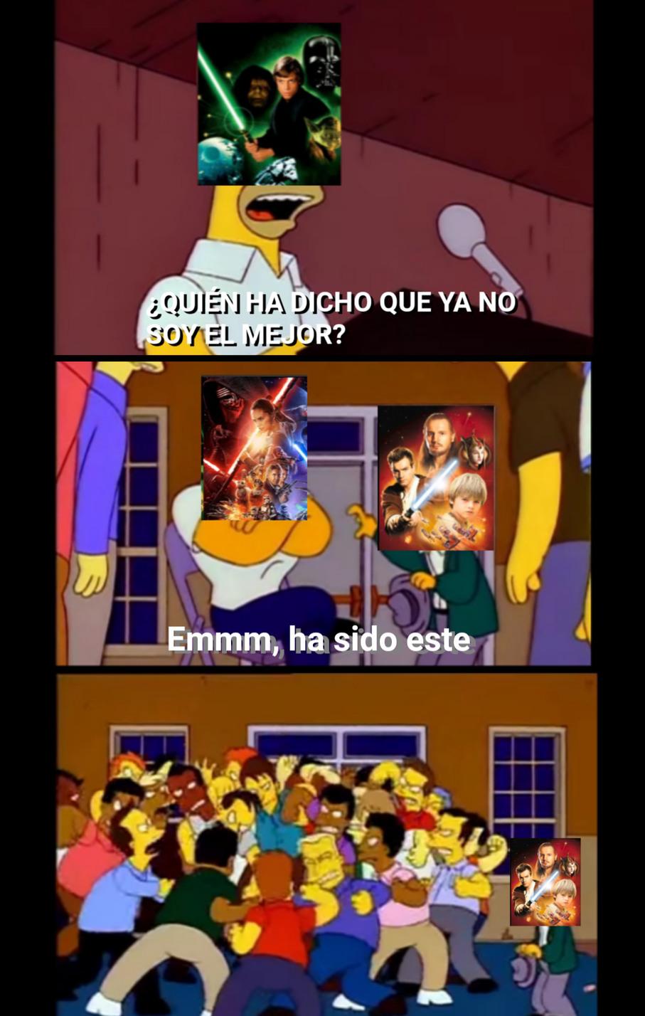 Resumen de star wars hoy en día - meme
