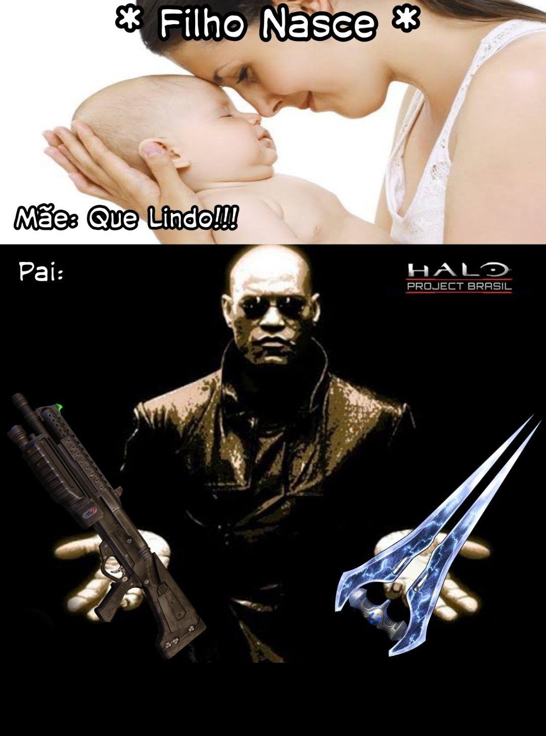 Os dois, mas se vc for noob(ou ruim de mira), escolhe a espada - meme