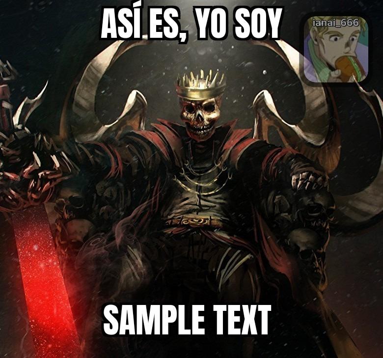 Sample title - meme
