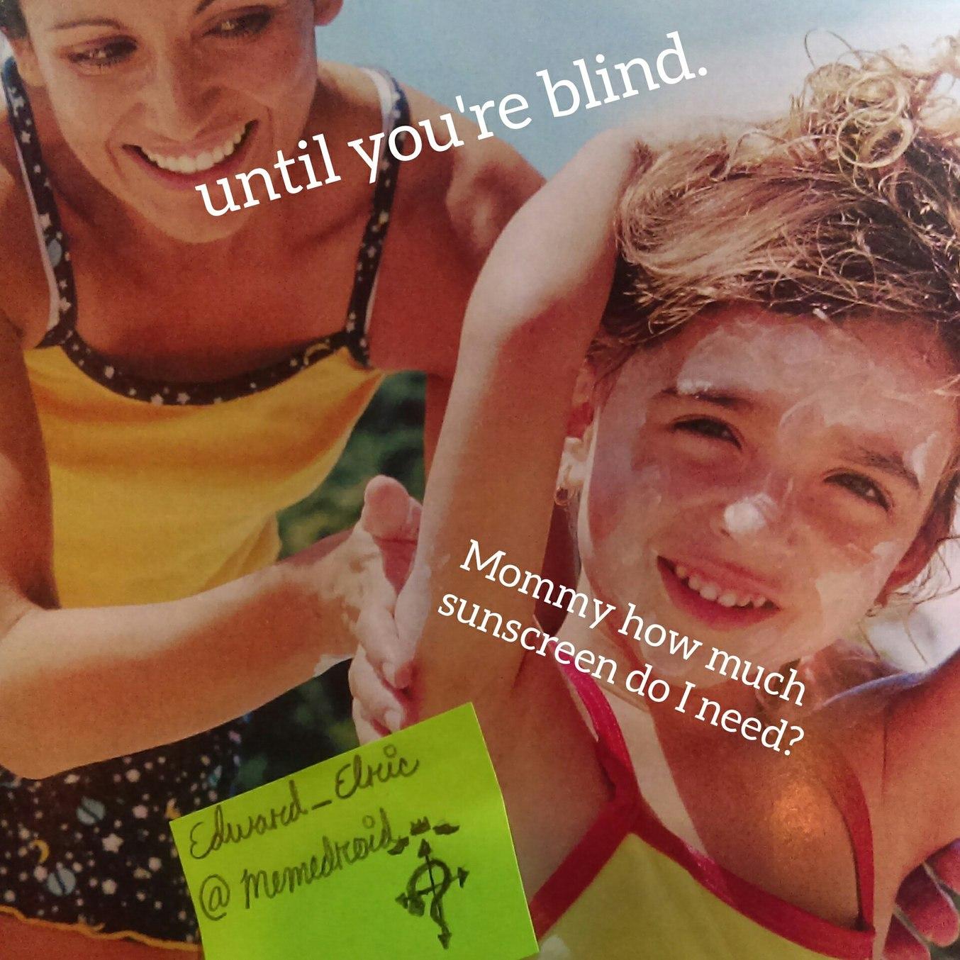 Saw this pic in my A&P book. Some OC of a woman trying to blind her child. - meme