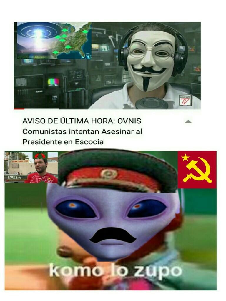 Malditos extraterrestres comunistas - meme