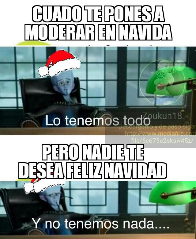 Yo te deseo feliz navidad - meme