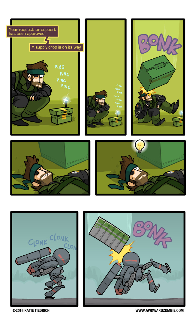 AwkwardZombie Metal gear comics - meme