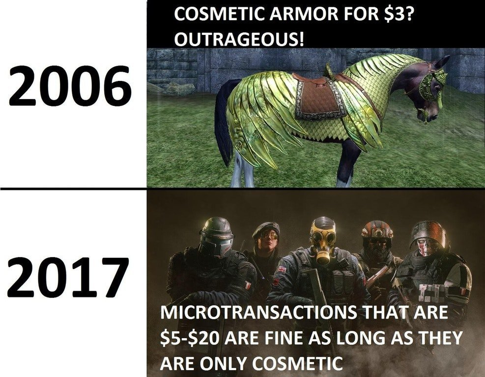 Rainbow six seige vs that other game.. - meme
