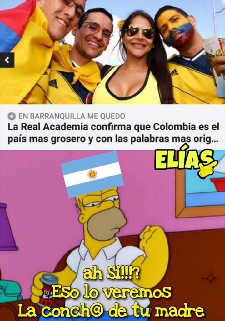 Nargentina vs Narcolombia - meme