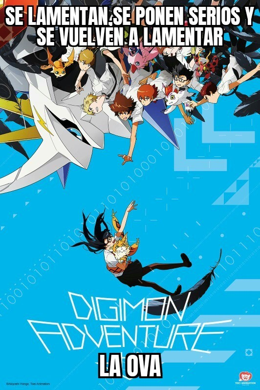 Digimon adventure tri también posee tetas,muchas tetas - meme