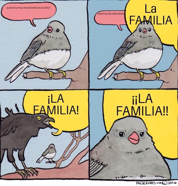 No va a durar otro dia ese meme de la familia