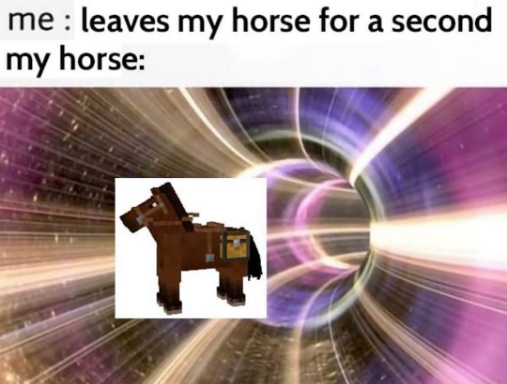 i don't gonna take my horse to the old town road ;-; - meme