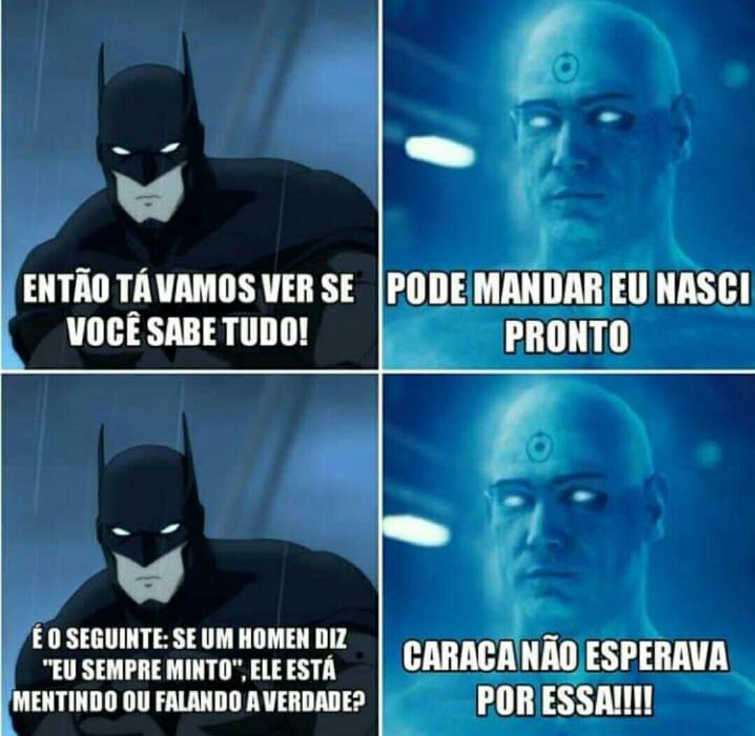 Com o Batman é outro nível - meme