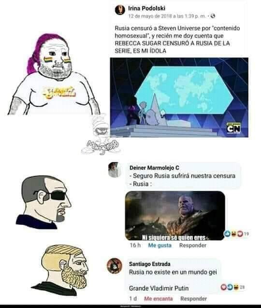 Solo puede haber un Putin en Rusia - meme