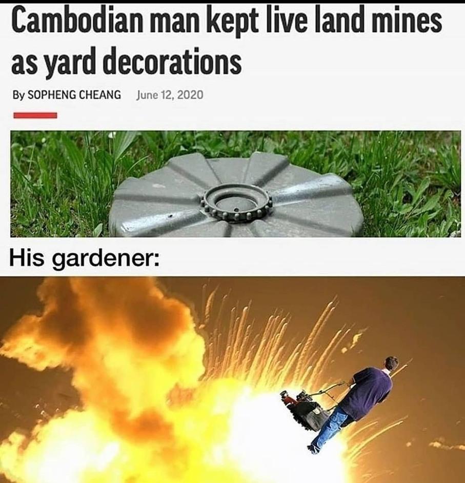 Boum a plu jardinier - meme