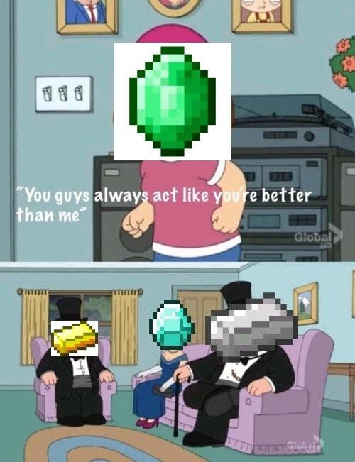 Esmeralda só serve pra comércio - meme