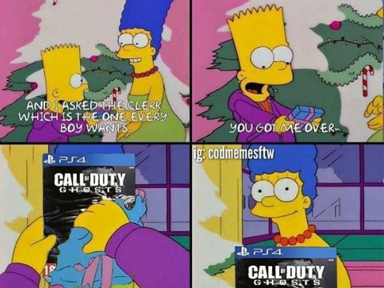 Cod ghosts is bae - meme